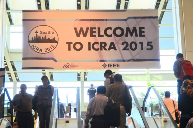 Video Friday: Aerial Manipulator, Car-Removal Robot, Robotic Limbs, and More From ICRA 2015