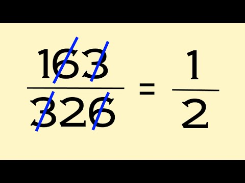 The wrong way to reduce fractions. But it works?