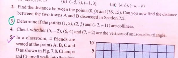 CLASS 10th Mathematics CHAPTER 7 COORDINATE GEOMETRY EXERCISE 7.1 NCERT SOLUTIONS || EX 7.1 CLASS 10