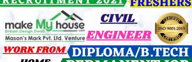 WORK FROM HOME #FRESHERS #CIVIL ENGINEER 2021