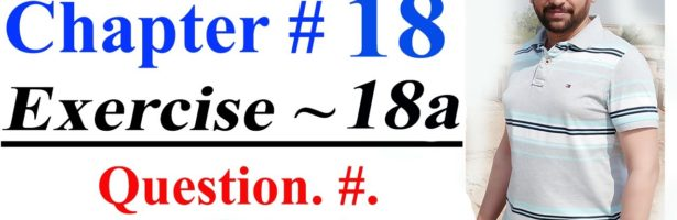 Mathematics of Class 7 |Oxford countdown Mathematics |Chapter18, Exercise. 18a | Question.#. 08