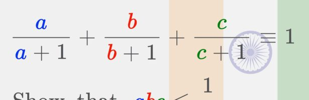 A MEAN Problem from India [ 2016 RMO Mathematical Olympiad ]