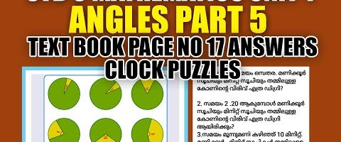STD 6 Mathematics Unit 1 Angles Part 5 Textbook Page No.17 Answers Clock Puzzles SCERT Kite Victers