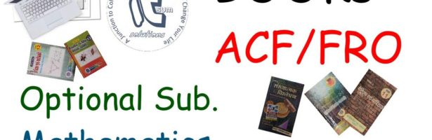 #ACF #FRO Optional Mathematics Books Detailed #itsum #itsumsolutions #optional